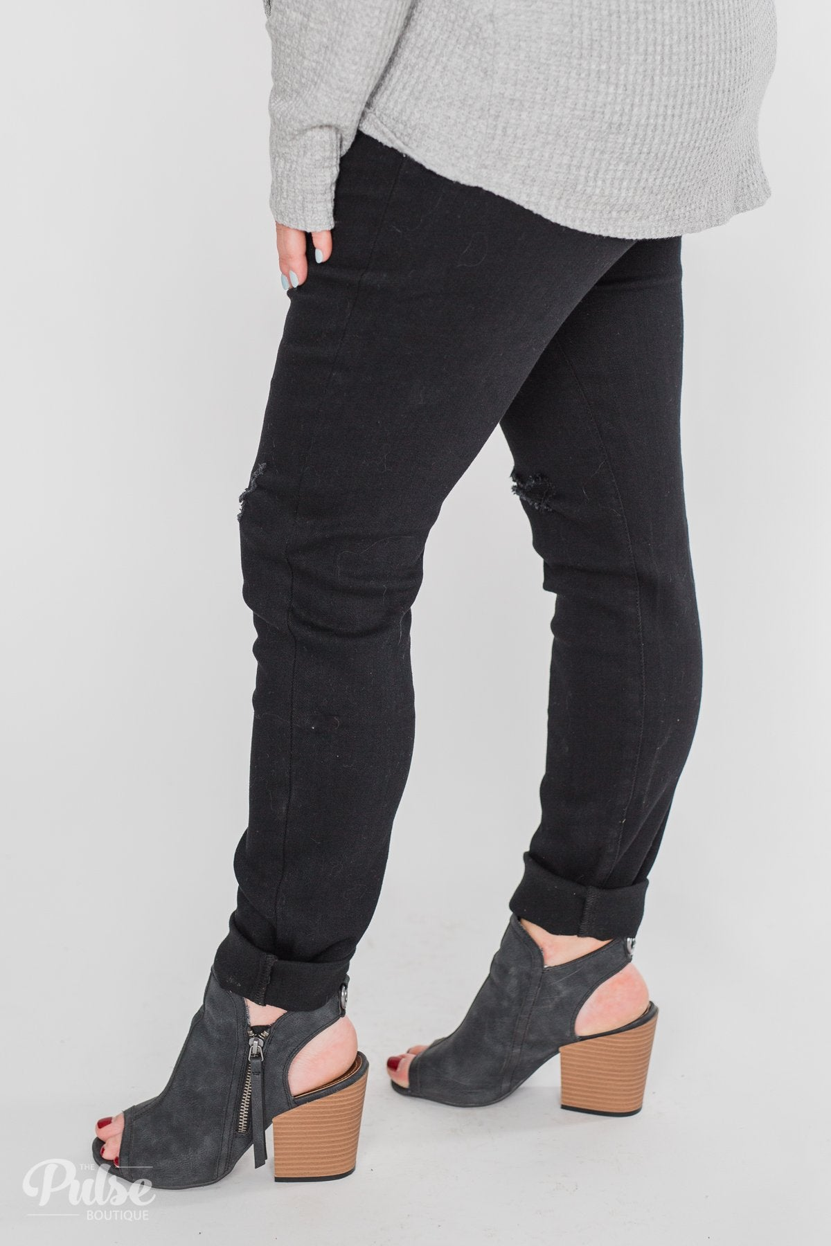 KanCan Rylee Jeans - Black Distressed