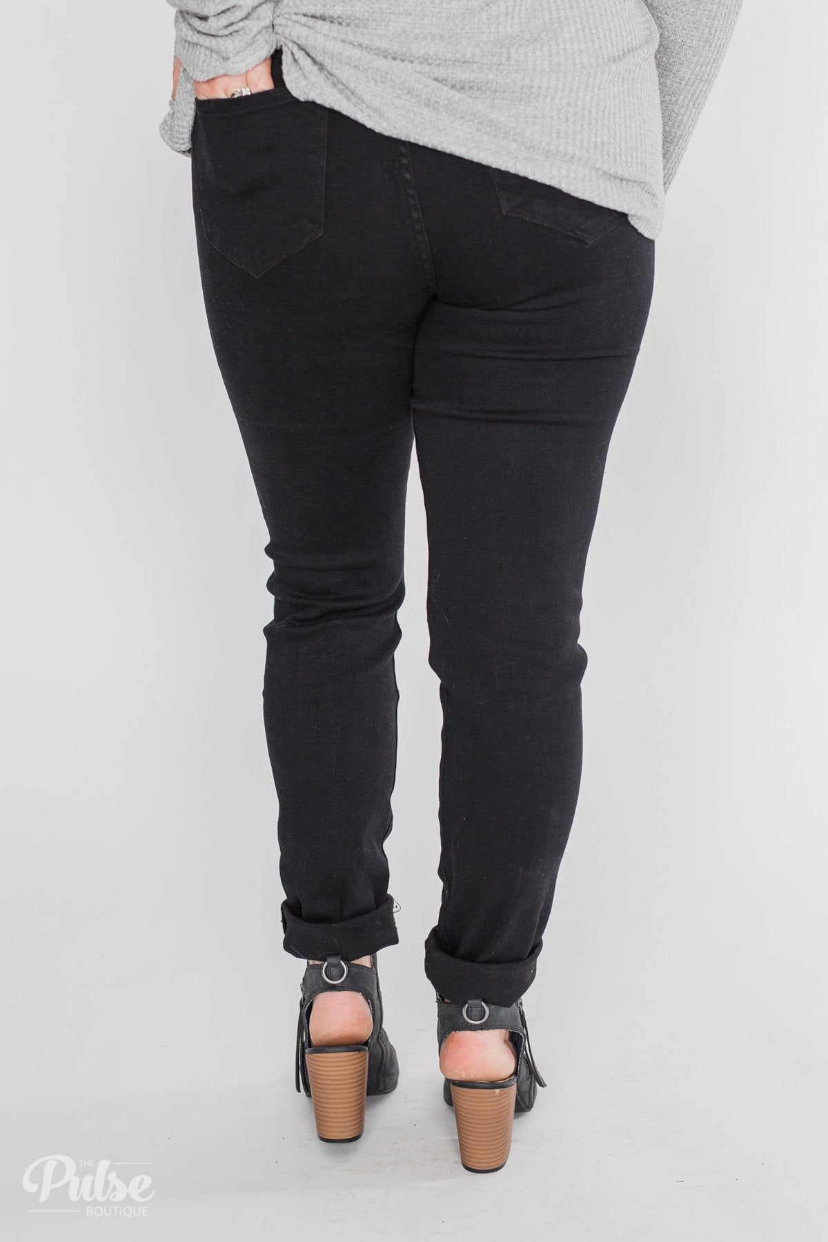 Kan Can Rylee Jeans - Black Distressed