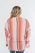 Free Spirit Striped Blouse- Peach Tones