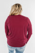 Made You Miss Me V-Neck Wrap Top- Wine