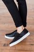 Soda Alone Slip On Sneakers- Black