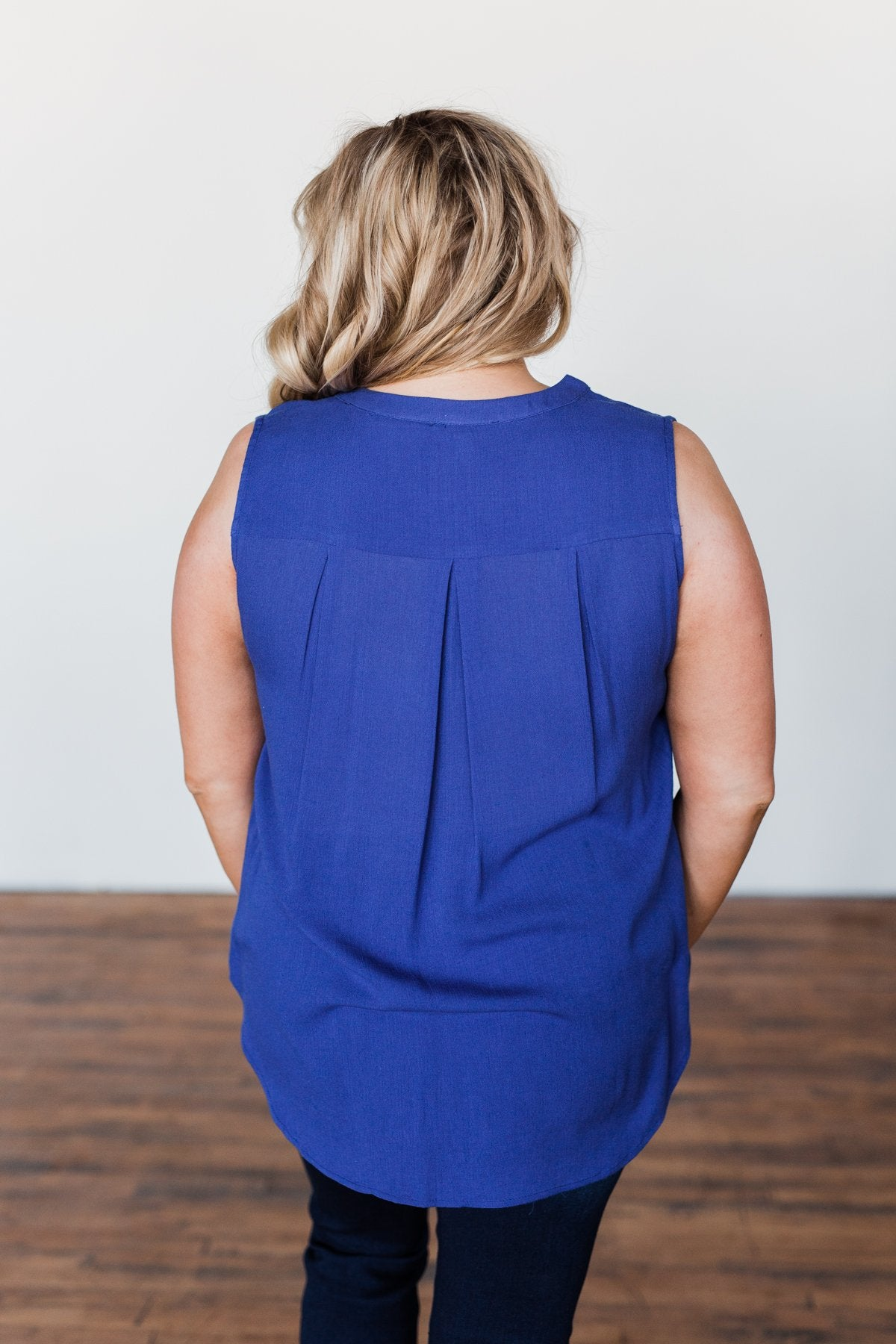 I Love Everything 3 Button Top- Royal Blue