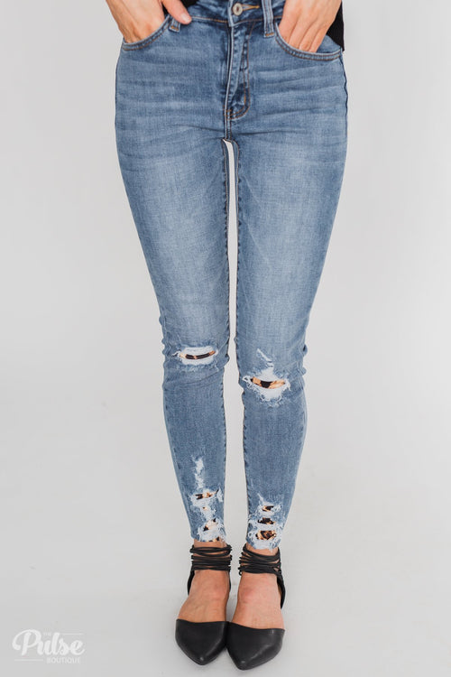 Kan Can Jeans - Leopard Patch