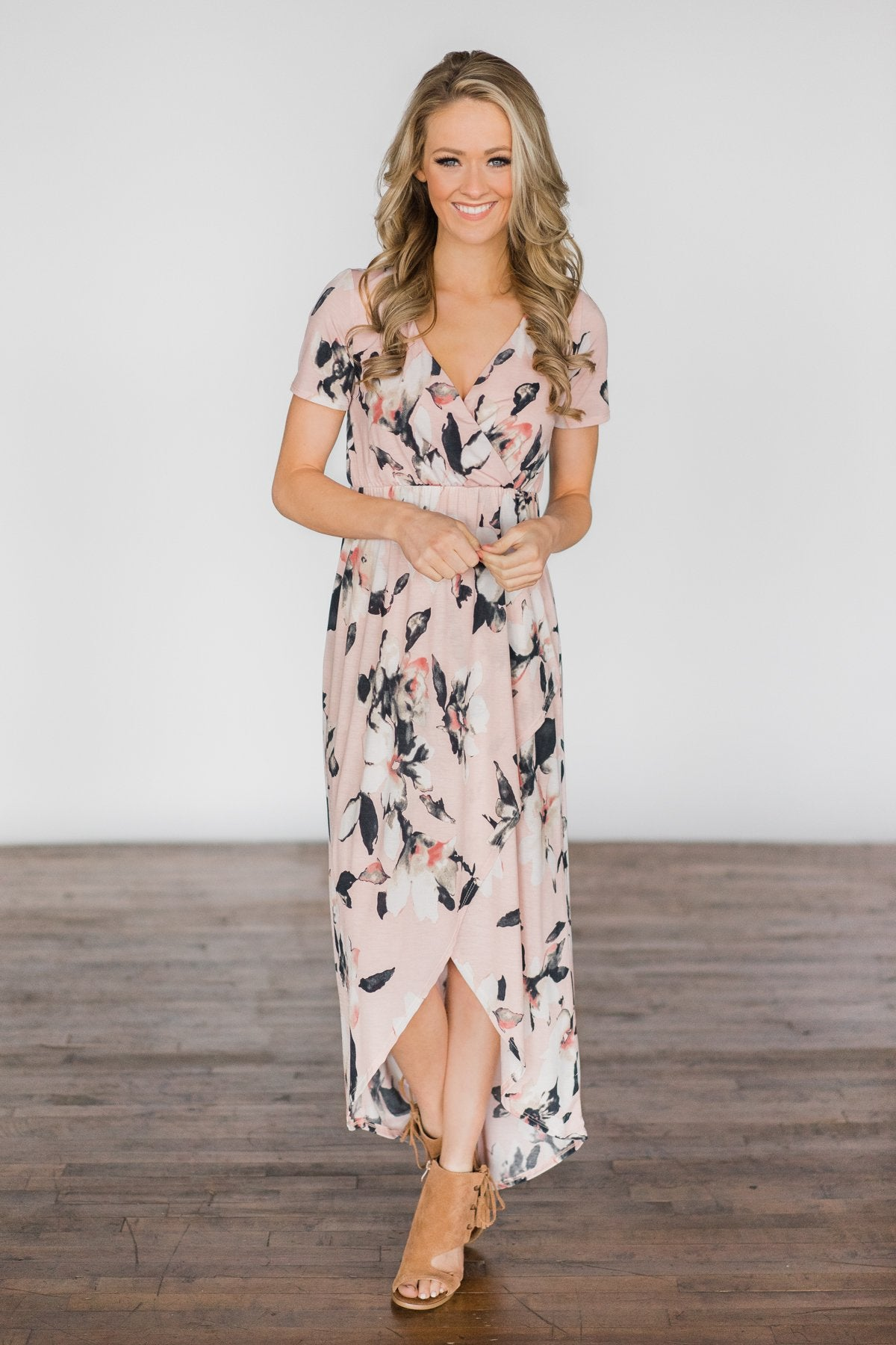 You Make Me Wanna Floral Maxi Dress ~ Stone