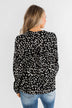 Love To Lean On Speckled Blouse- Black