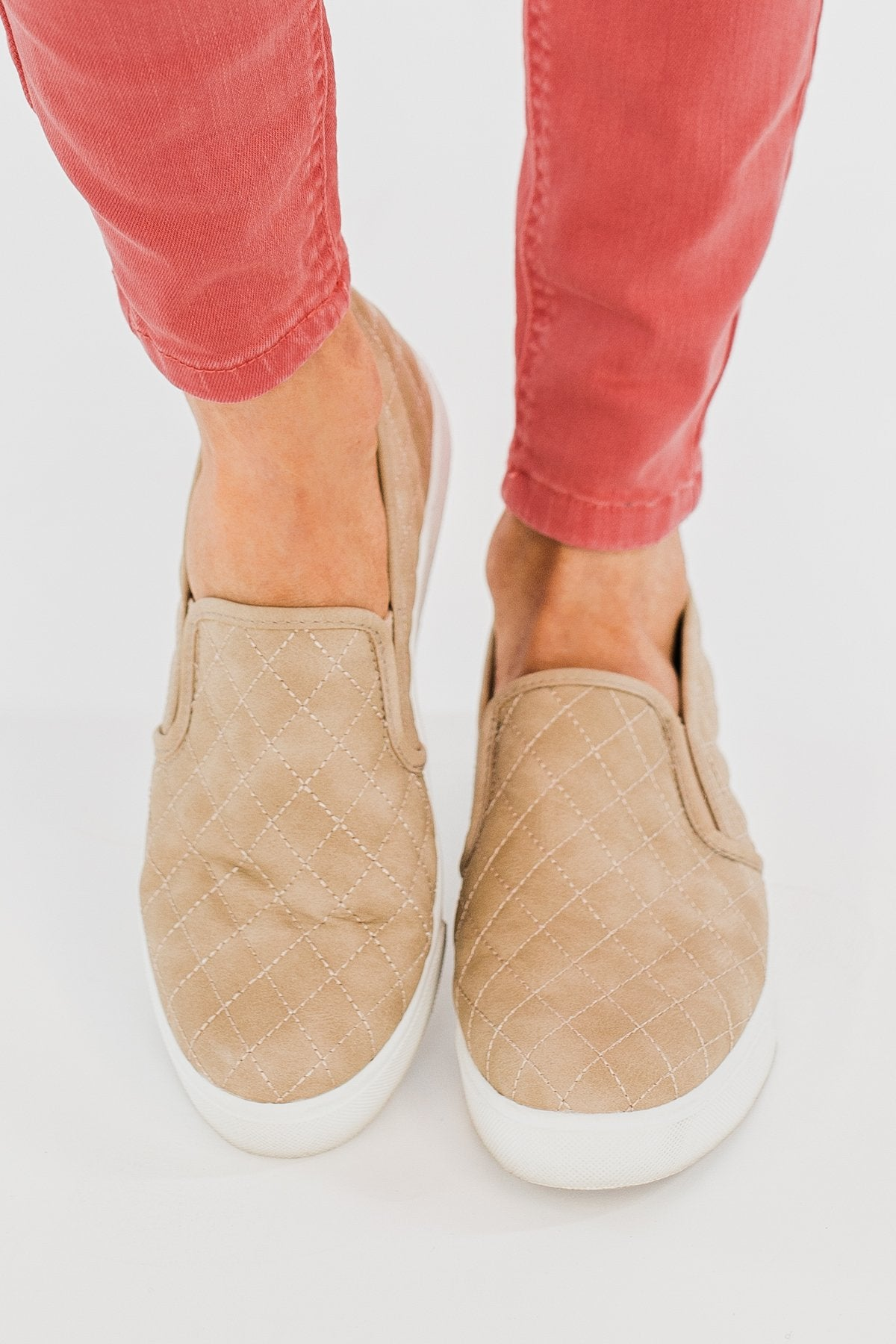 Soda Alone Slip On Sneakers- Taupe