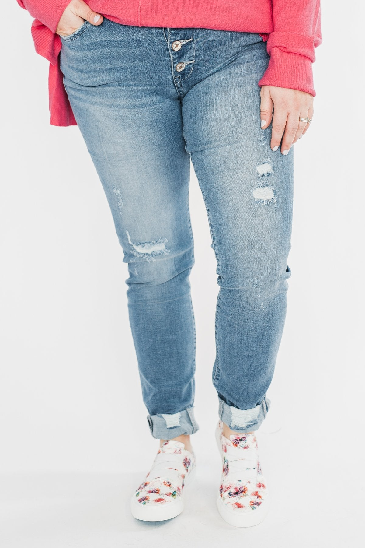 KanCan Reese Jeans- Medium Wash