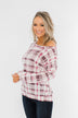Just Wanna Have Fun Plaid Pullover Top- Purple Tones