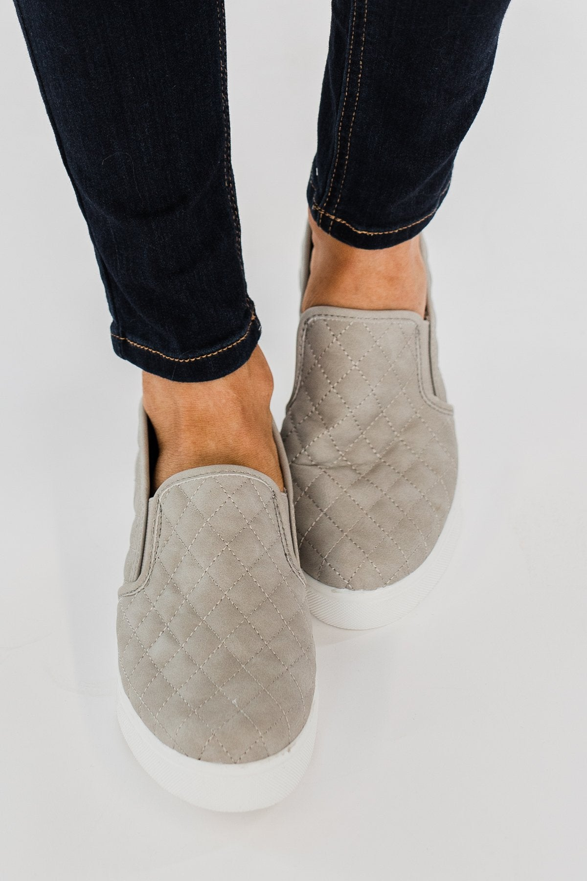 Soda Alone Slip On Sneakers- Grey