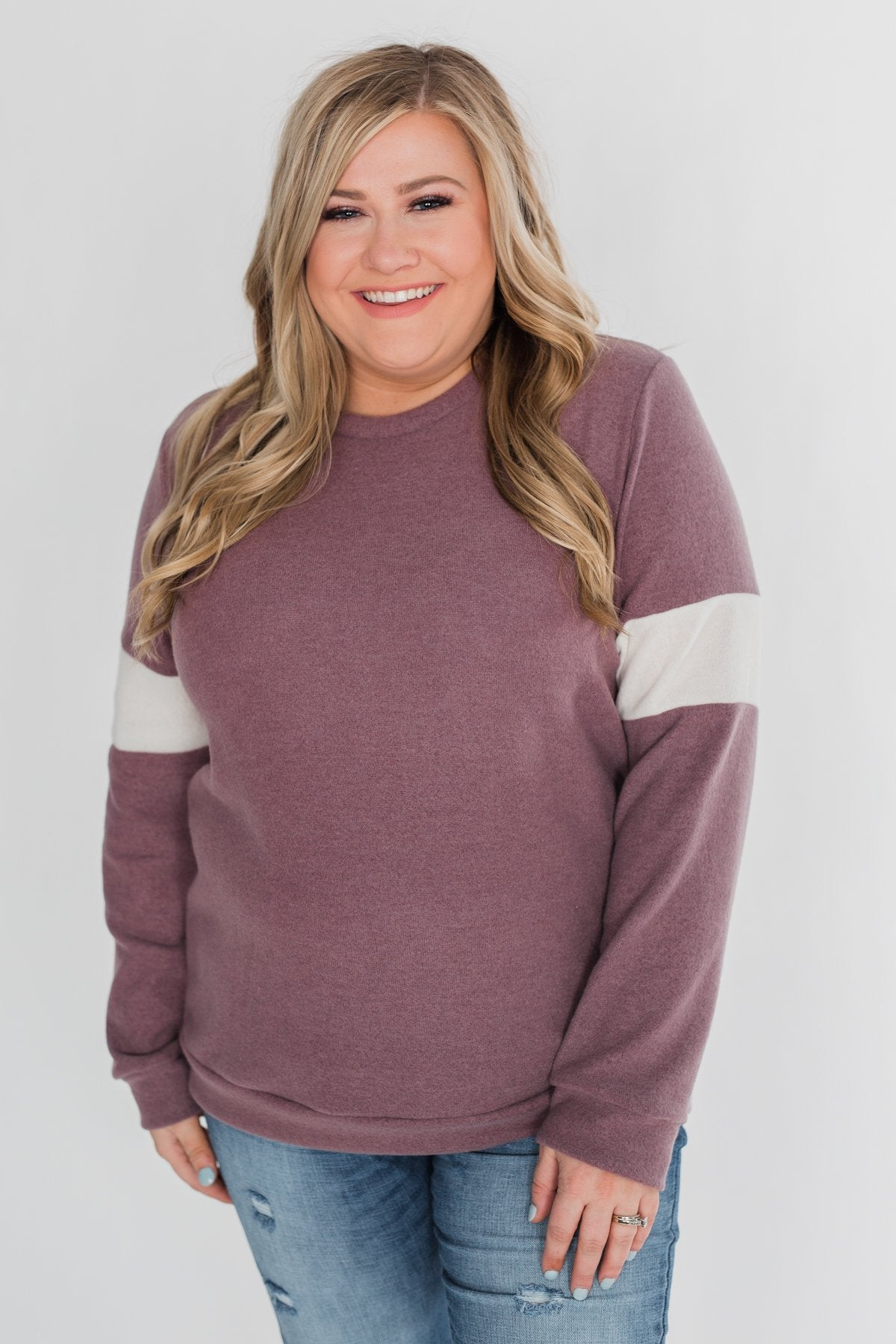 All of Me Long Sleeve Pullover Top - Antique Mauve