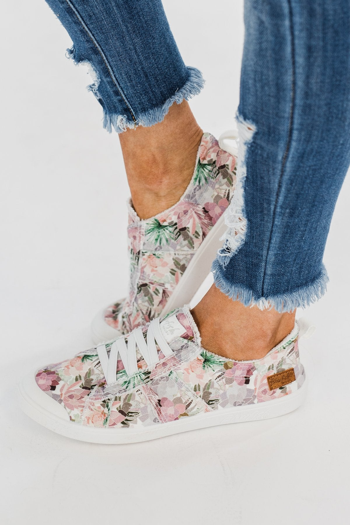 Blowfish Vex Sneakers- Off White Floral