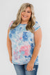 All Is Well Tie Dye Pocket Top- Blue & Pink