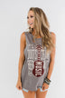 """Boots, Jeans, Beer, & Country Music"" Graphic Tank Top- Charcoal"