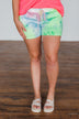 Never The Same Tie Dye Lounge Shorts- Neon Multi