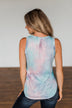 In With The New Tie Dye Tank Top- Blue, Purple, Pink
