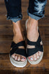 Very G Elvina Platform Sandals- Black