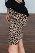 Travel Along Lounge Biker Shorts- Leopard