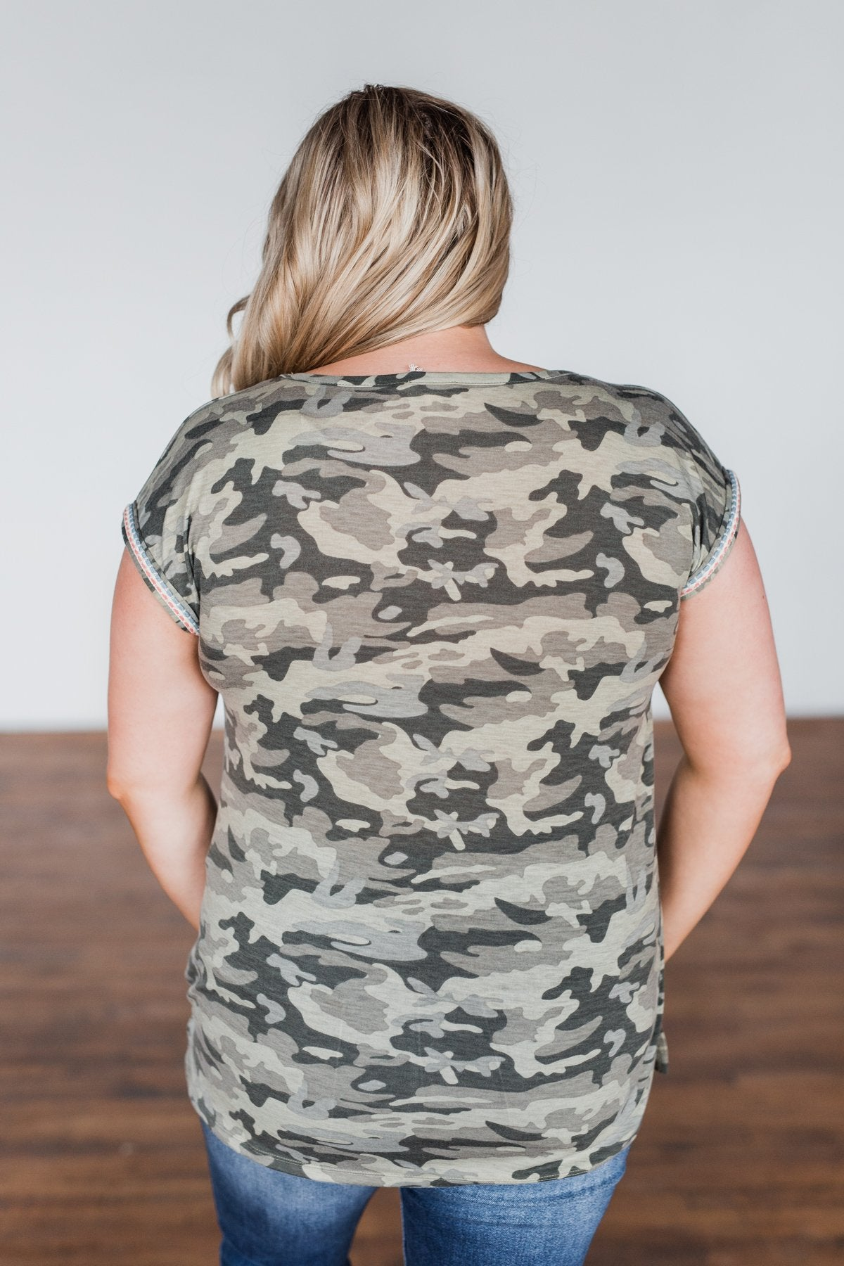 Something I Said Short Sleeve Top- Camo