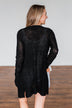 Long Sleeve Knit Cardigan- Black