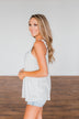 Feel Your Touch Crochet Strap Tank Top- Ivory