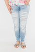 KanCan Distressed Skinny Jeans- Georgia Wash