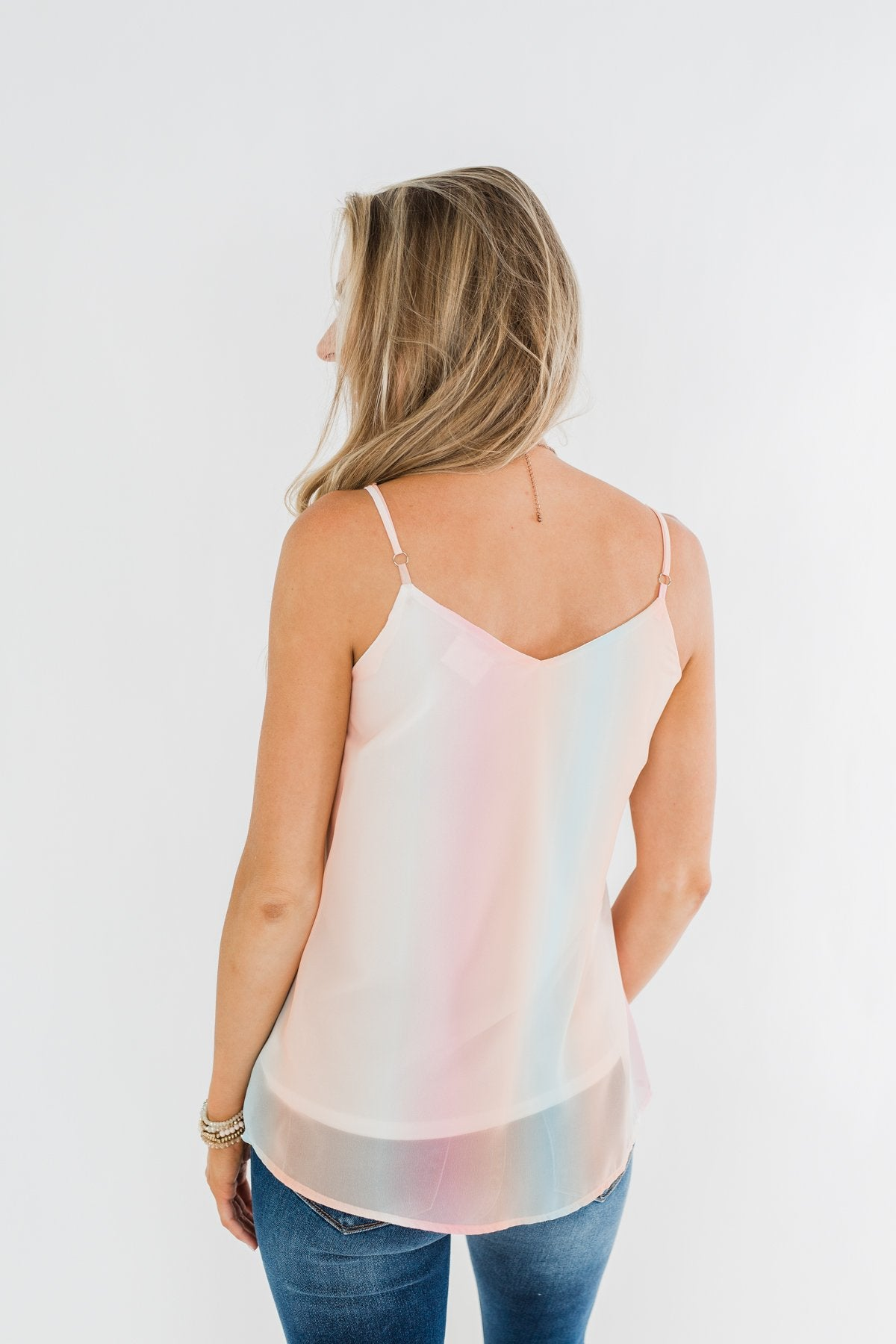 Light Shines Through Colorful Shift Tank- Pink, Orange, & Blue