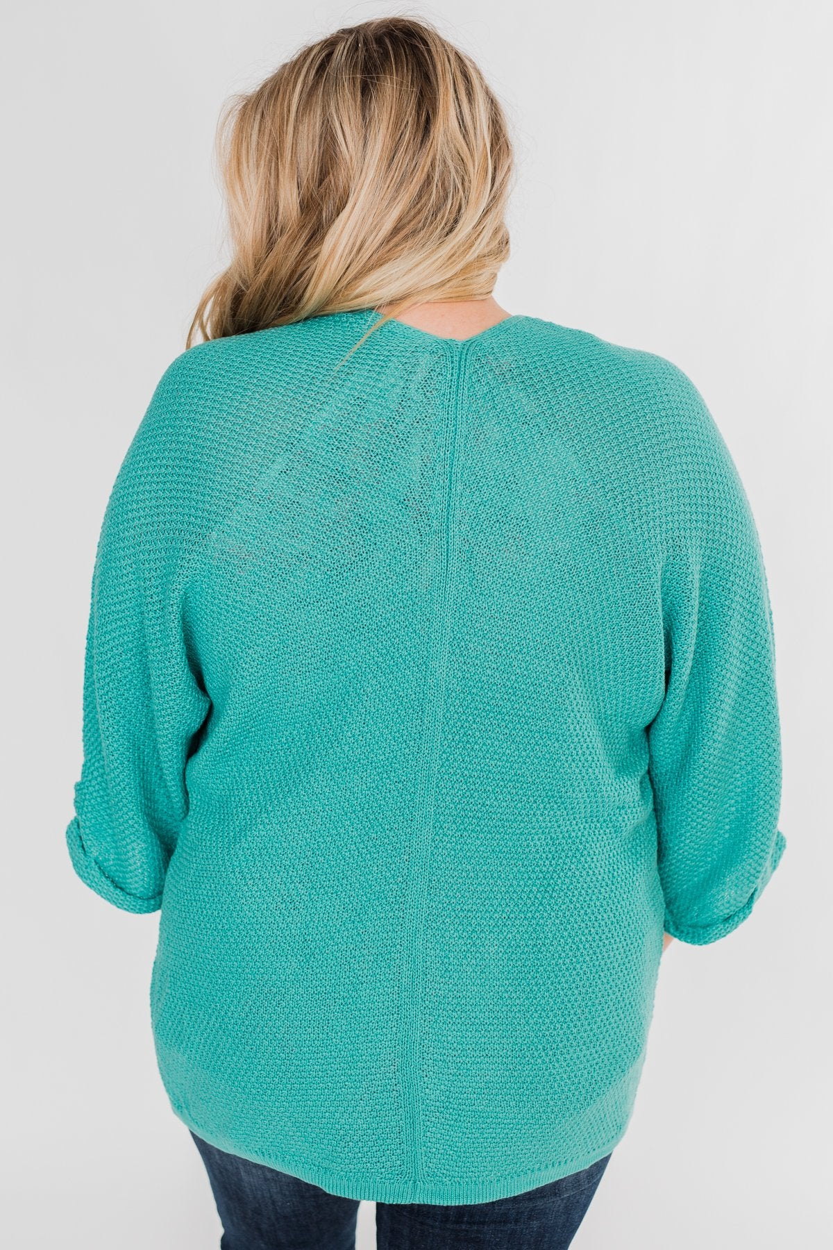 The Perfect Knit Cardigan- Deep Aqua