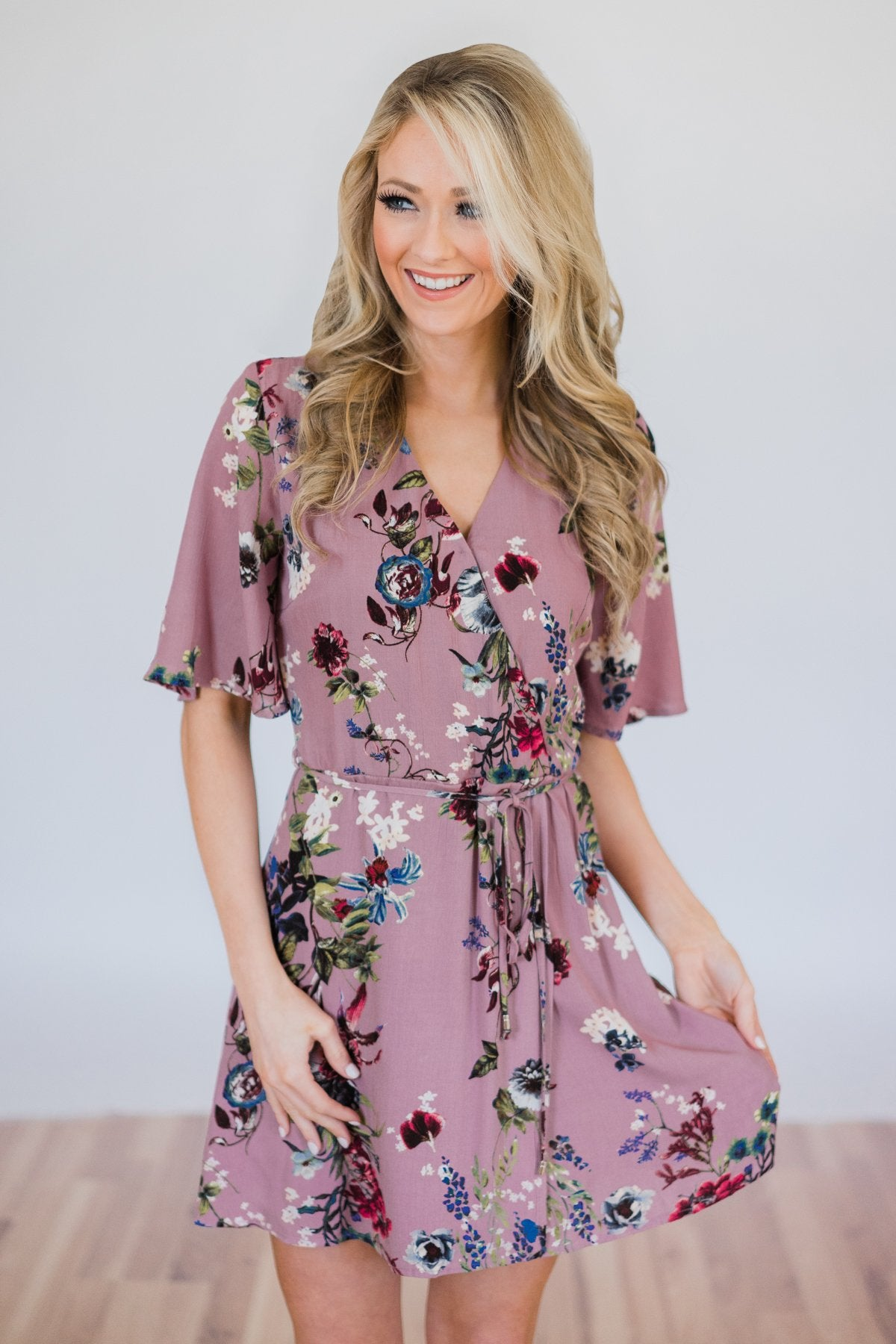 What I Like About You Floral Dress- Navy