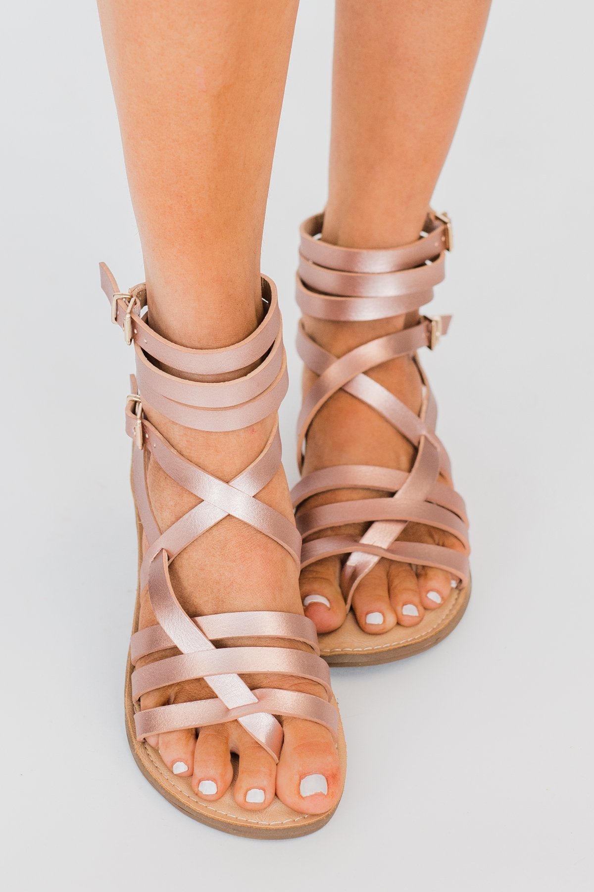 Sugar Malou Sandals- Rose Gold