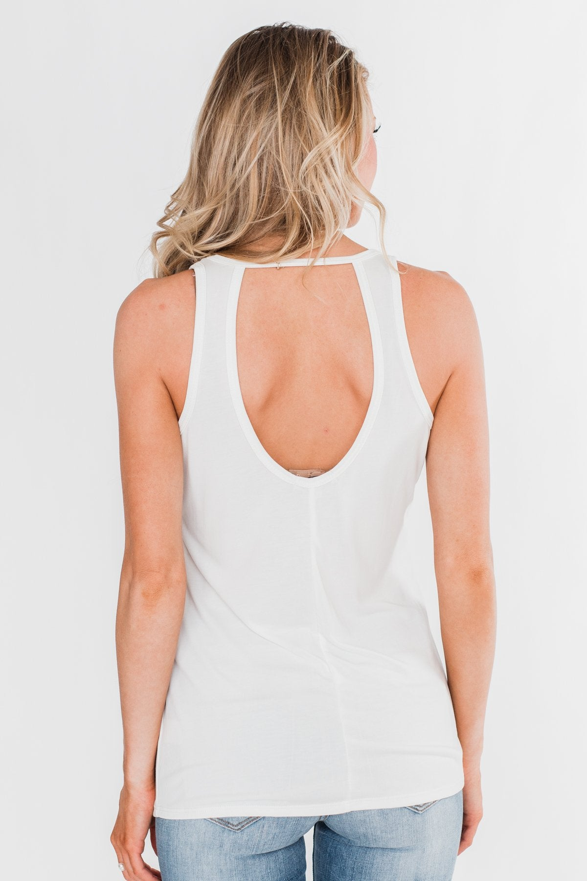 Caught In The Moment Tank Top- Ivory