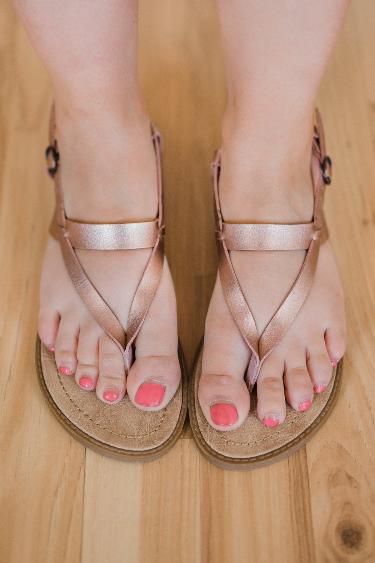 Blowfish Berg Sandals- Rose Gold