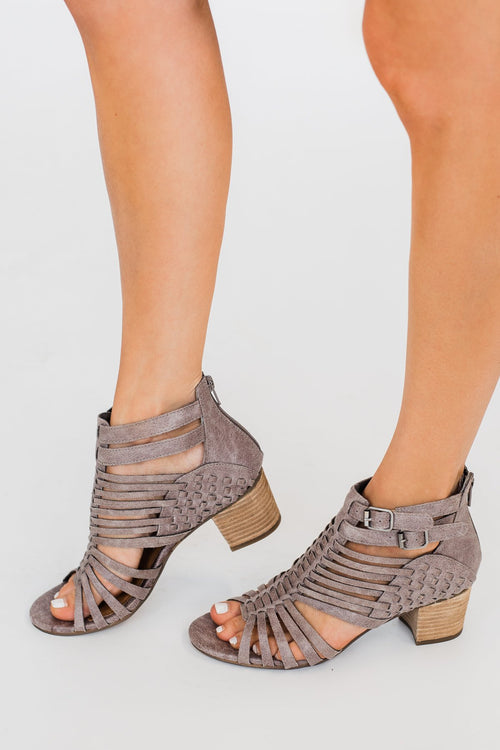 Not Rated Ofanto Heels- Grey