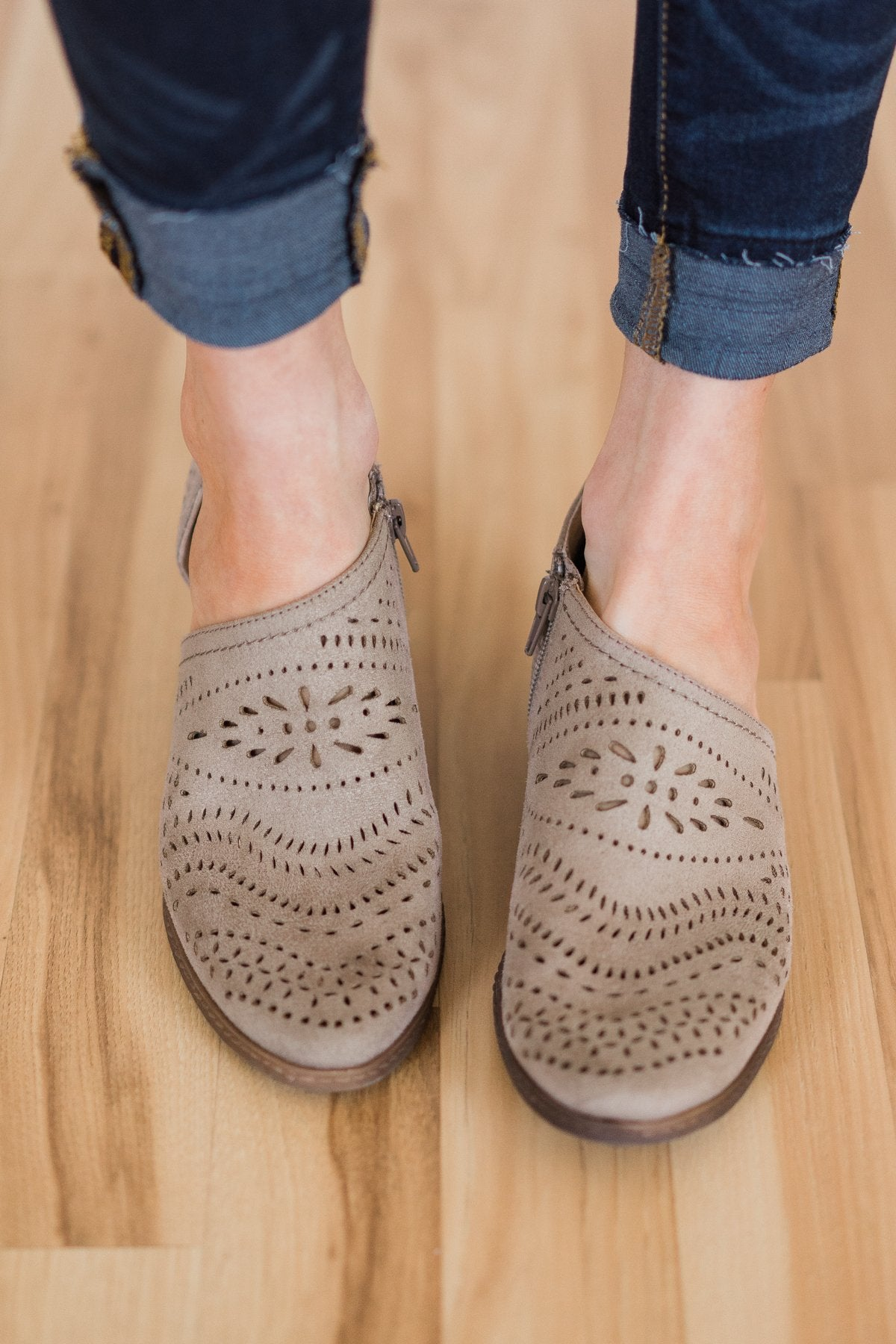 Not Rated Anouk Booties- Taupe