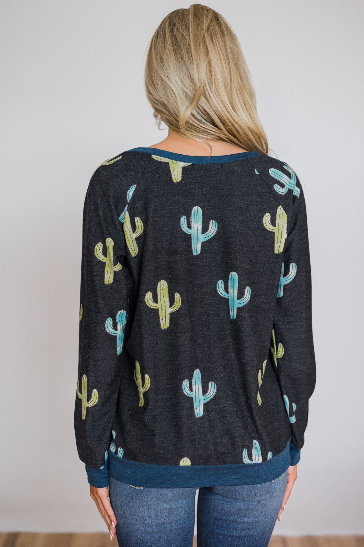 Can't Touch This Cactus Long Sleeve Top