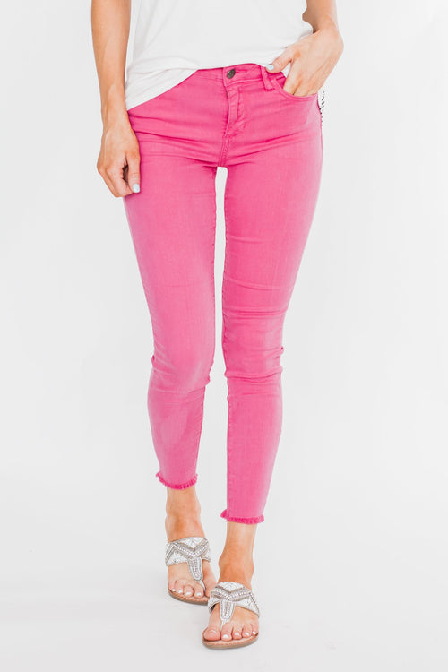 Cello Colored Skinny Jeans- Hot Pink