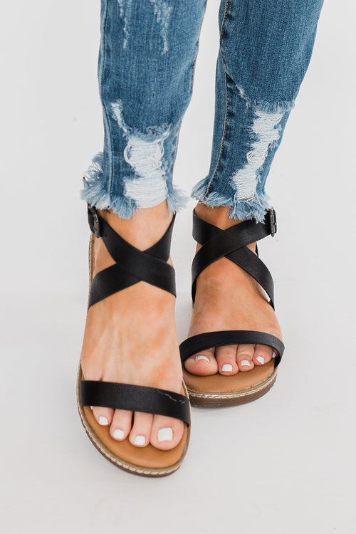 Blowfish Ozone Sandals- Black