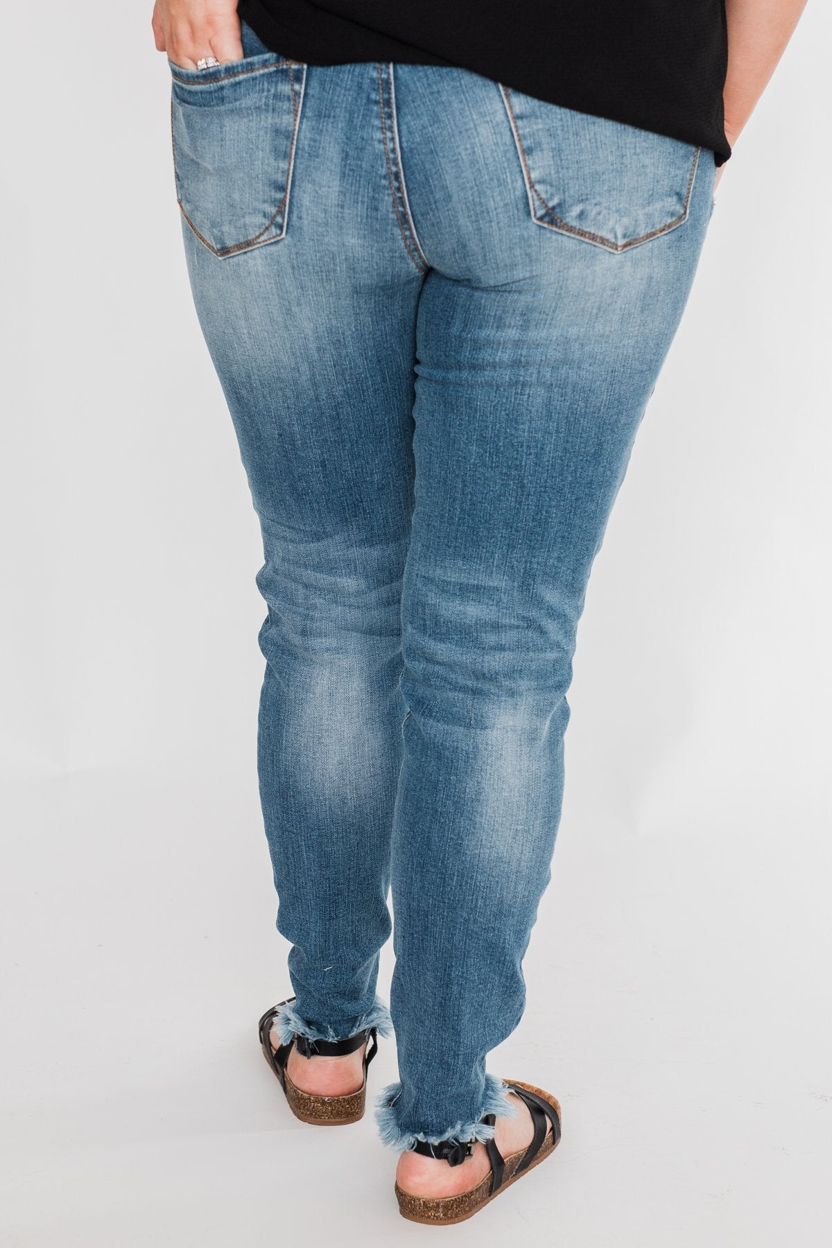 C'est Toi Distressed Skinny Jeans- Fiona Wash