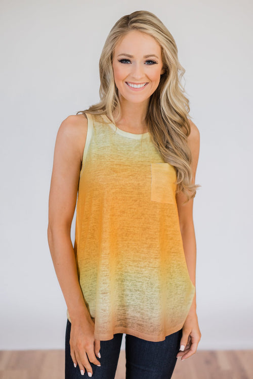 Ombré Tank Top- Harvest Gold