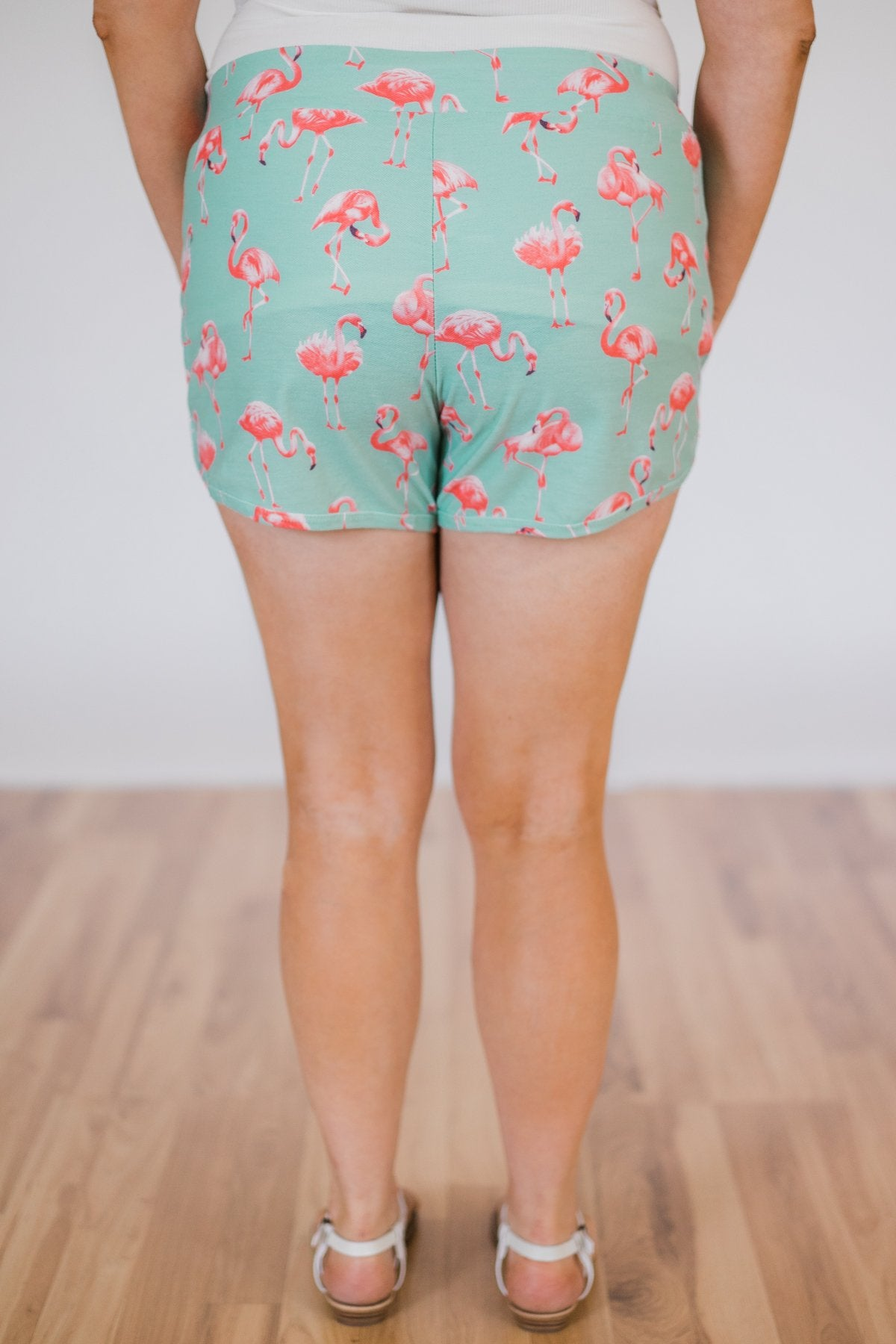 Flamingo Shorts- Mint