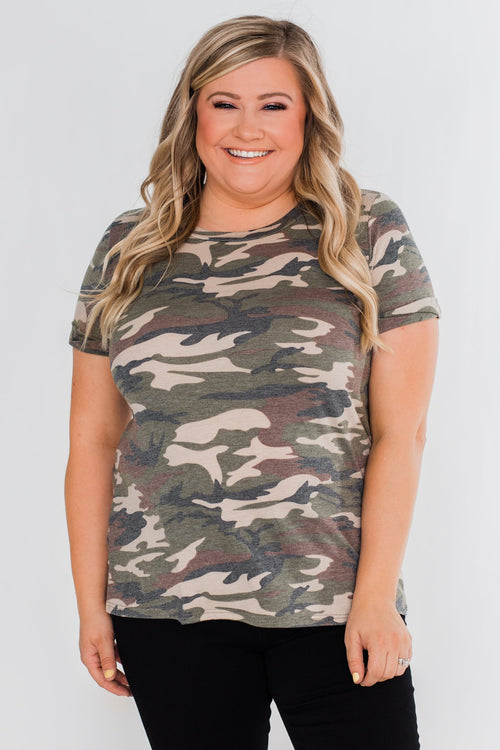 Wouldn't It Be Nice Short Sleeve Top- Camo