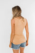 Places to Go Criss Cross Tank Top- Butterscotch