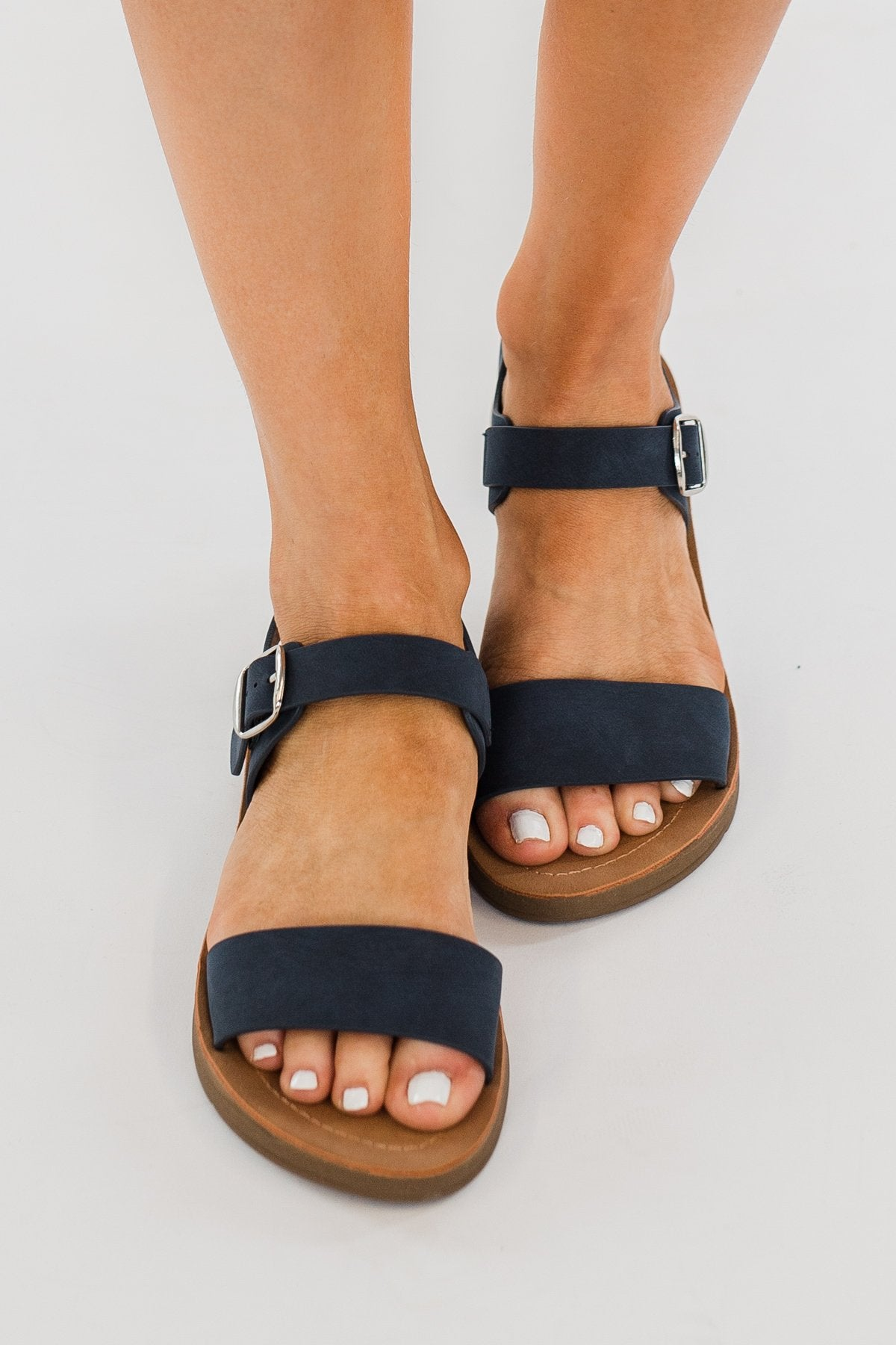 Soda Plenty Sandals- Navy
