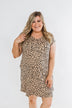 Sounds of the Wild Spotted Shapeless Dress- Taupe