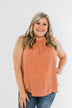Something Like That Sleeveless Blouse- Dusty Peach