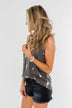 Every Time We Touch Lightning Bolt Tank Top- Charcoal