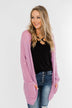 Layered With Love Knitted Cardigan- French Rose
