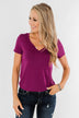 This is Me Notch Pocket Top- Magenta