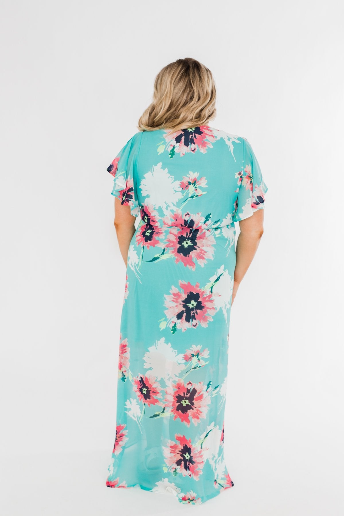 Inside The Dream Floral Maxi Dress- Mint