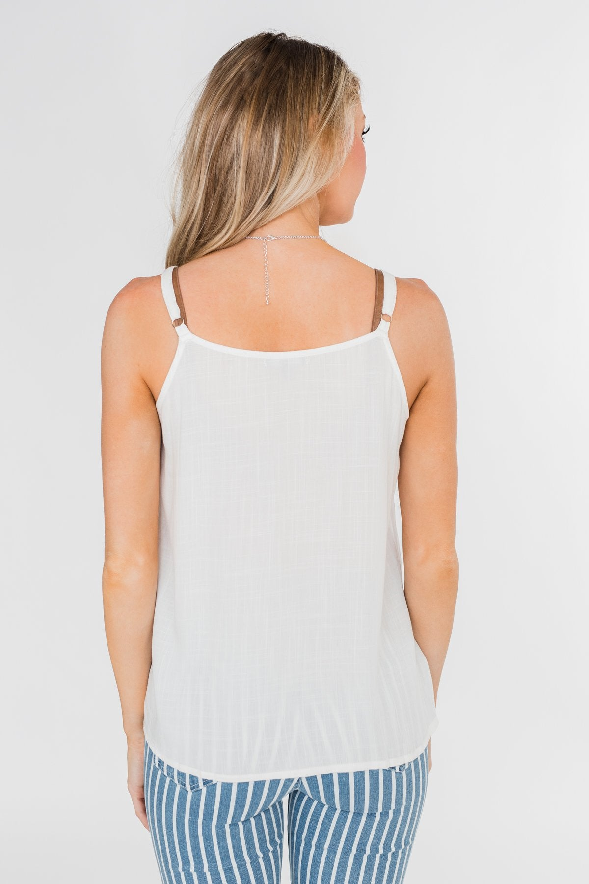 Happy Together Ruffle Tank Top- Ivory