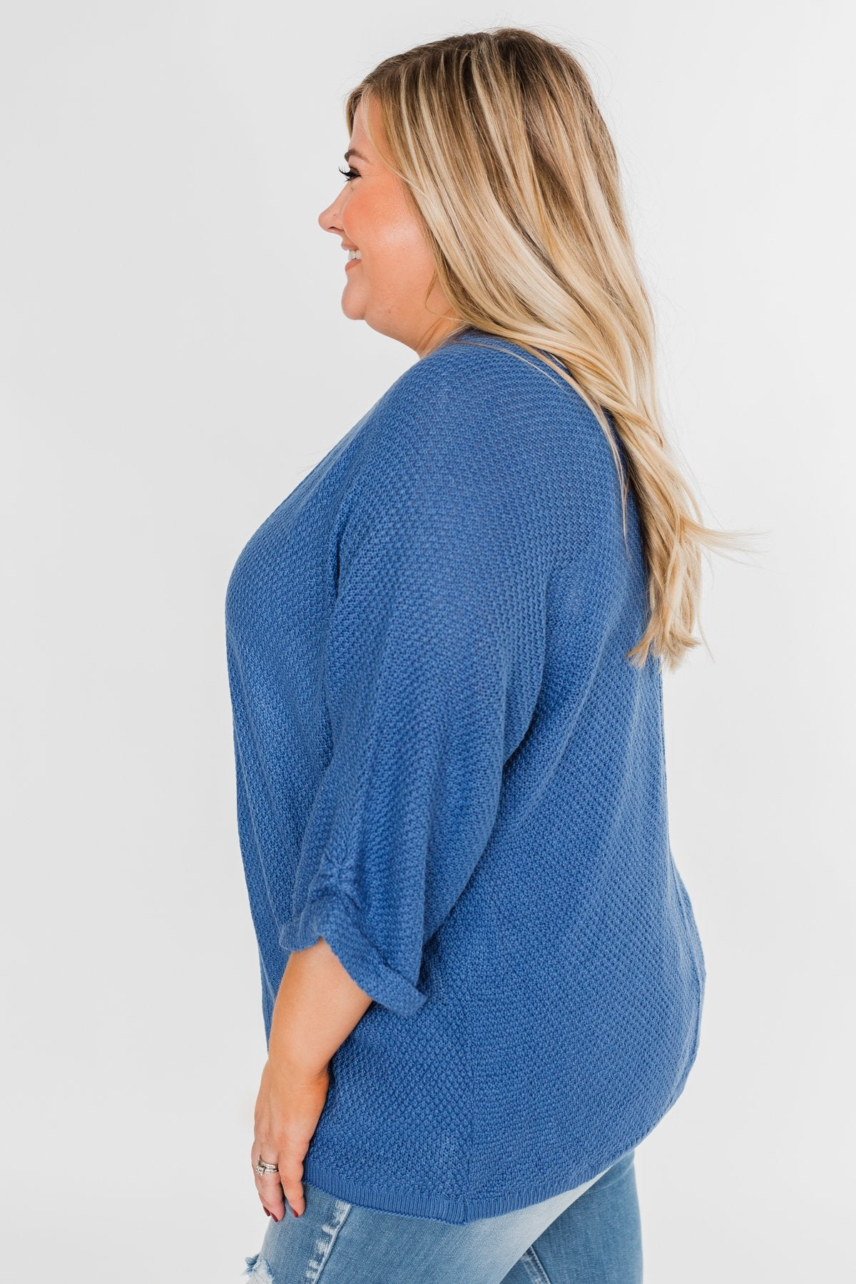 The Perfect Knit Cardigan- Cobalt Blue